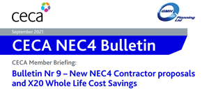 NEC4 CECA Bulletin No 9: Contractor Proposals and Whole Life Cost Savings